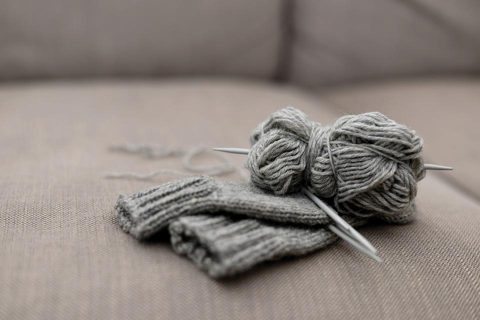 Schemi maglia: sciarpa reversibile