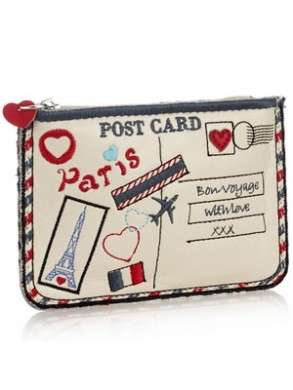 Accessorize, From Paris with love postcard clutch