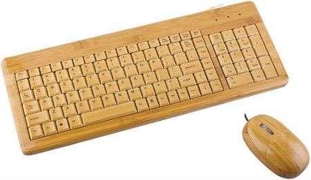 Shopping: tastiera e mouse in bambù