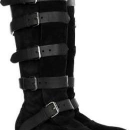 Vivienne Westwood, stivali in suedè con fibbie