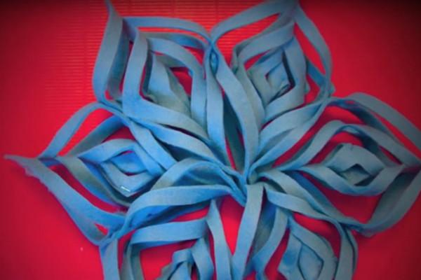 Stella di Natale azzurra