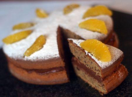 Ricette dolci: torta al cioccolato con arance