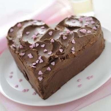 cuore torta cioccolato