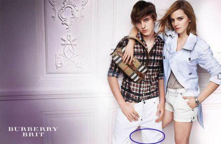Le vergogne di Photoshop: Emma Watson con una gamba sola