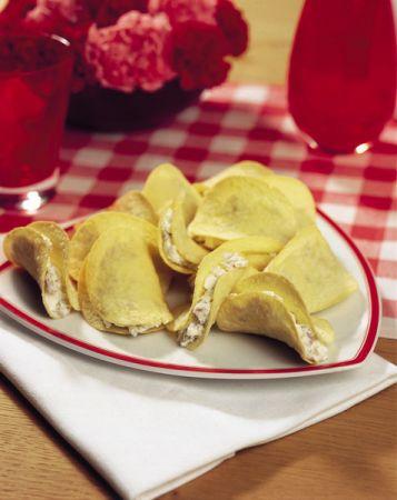 Ricette festa della donna: chips con robiola