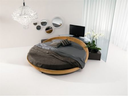 leather round beds by prealpi
