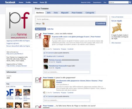 Pour Femme è su Facebook e Twitter, mancate solo voi!