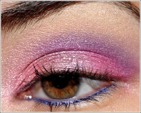 Trucco occhi: rosa e viola