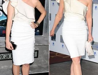 Abito monospalla di Lanvin: Michelle Williams o Kim Cattrall?