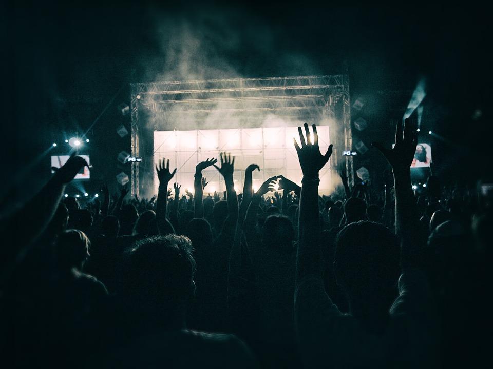 persone a un concerto