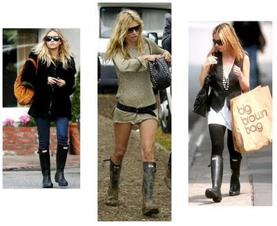 celebrities in hunter rain boots
