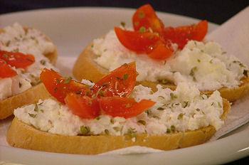Ricette light: crostini con ricotta