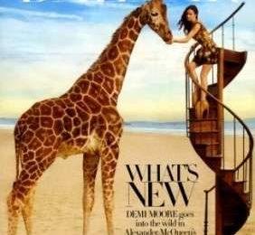 Demi Moore come Alice per Harper's Bazaar