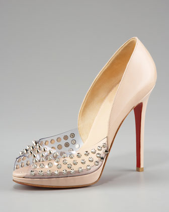 louboutin spiked patent pump