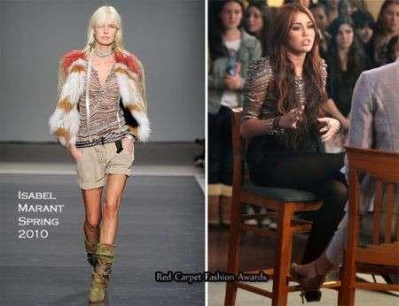 Miley Cyrus con camicia Isabel Marant