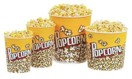 Vietati i mega popcorn nei cinema