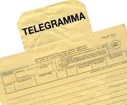 Auguri sposi: il telegramma