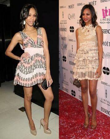 Zoe Saldana: meglio in Valentino o Louis Vuitton?