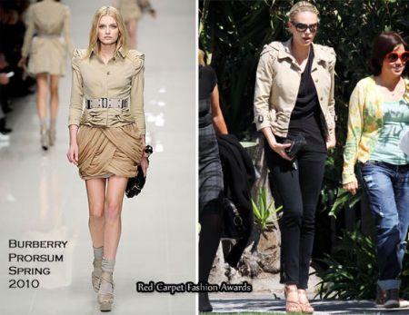 Charlize Theron sceglie la giacca di Burberry