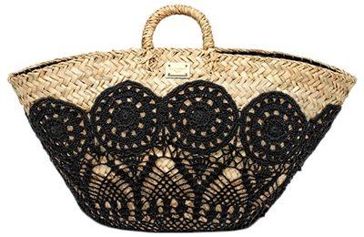 Borse Dolce & Gabbana, cesta in paglia e crochet