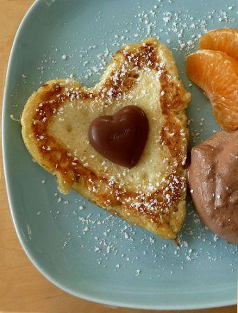 pancakes a forma di cuoricini