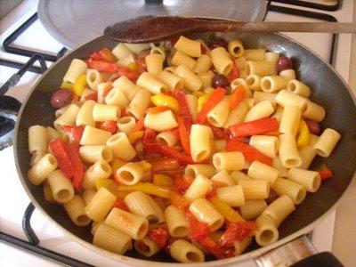 Ricette light: pasta spinaci e peperoni