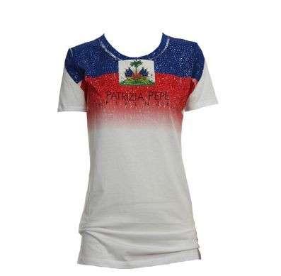 Patrizia Pepe, le t-shirt T Flag per Haiti