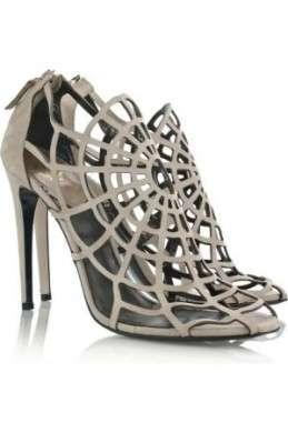 Scarpe Roberto Cavalli Spider web suede sandals