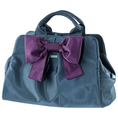 Borse Camomilla: handbag blu con maxi fiocco