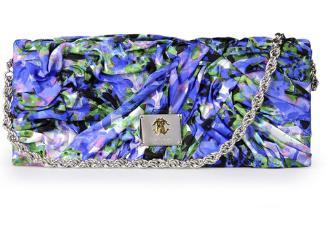 Borse Roberto Cavalli, pochette in raso blu