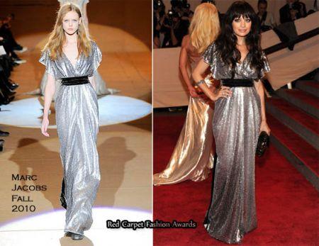 Nicole Richie con un abito da sera Marc Jacobs
