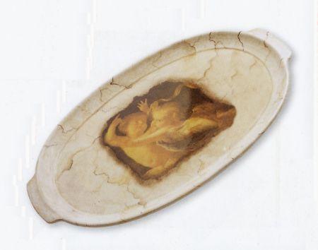 Decoupage: elegante vassoio con effetto marmo
