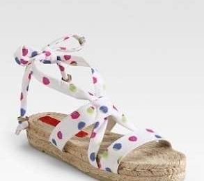 Marc by Marc Jacobs, espadrille in corda a pois