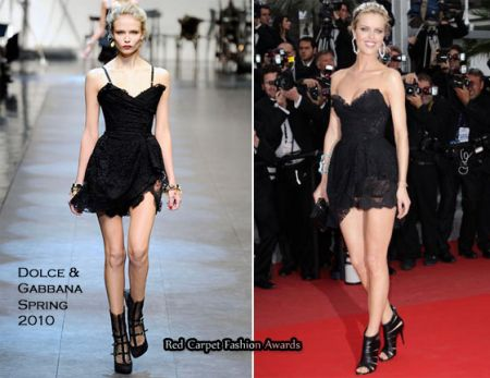 Festival di Cannes: Eva Herzigova in Dolce & Gabbana