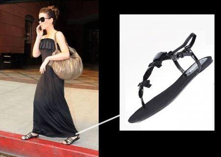 Zara scarpe, Kate Beckinsale con sandali ultra flat