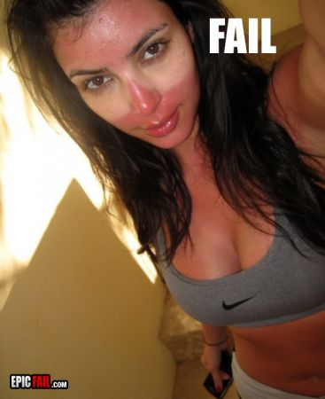 kim kardashian tan fail
