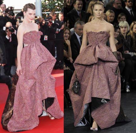 Festival di Cannes, Milla Jovovich in Louis Vuitton
