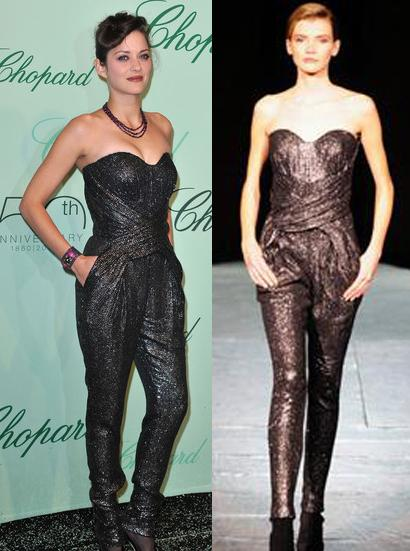 Marion Cotillard: tuta glamour Lefranc Ferrant