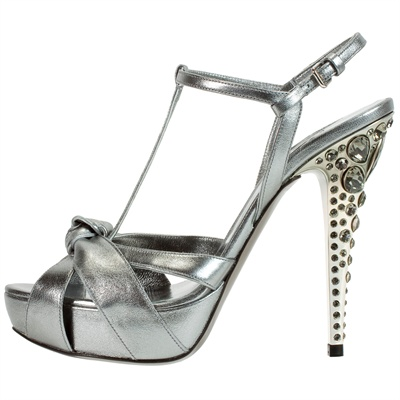 Scarpe Miu Miu, sandalo dal tacco gioiello