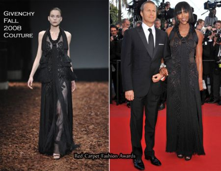 Festival di Cannes: Naomi Campbell in Givenchy Couture