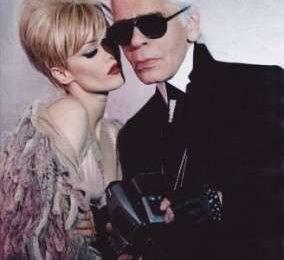 Karl Lagerfeld e Vanessa Paradis per la factory di Andy Warhol
