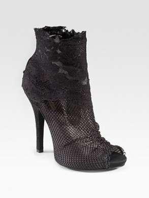 Scarpe Dolce & Gabbana, Peep-Toe Ankle Boots