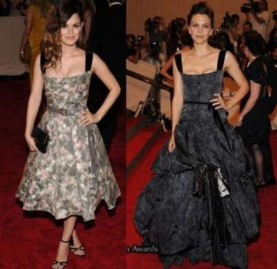 Met Costume Institute Gala: Rachel Bilson e Maggie Gyllenhaal in Louis Vuitton