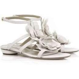 Scarpe Valentino, sandali ultra flat con fiori