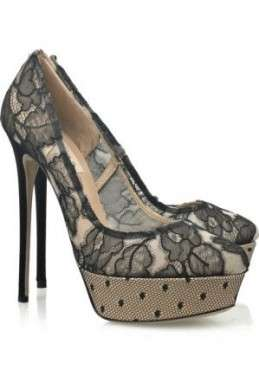 Scarpe Valentino, Lace Platform Pumps
