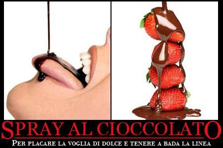 Calorie: arriva lo spray al cioccolato che non ingrassa