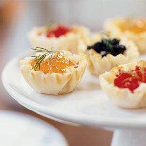 Ricette antipasti: tartellette colorate