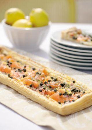 torta salata salmone