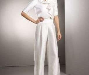 Abiti da sposa con pantalone, per una donna moderna [FOTO]