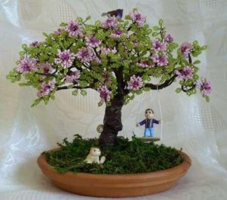 bonsai con altalena